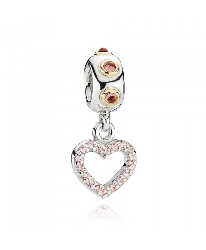 Pandora Heart Valentine Pendant Charm 790590rhl Pendant Charms