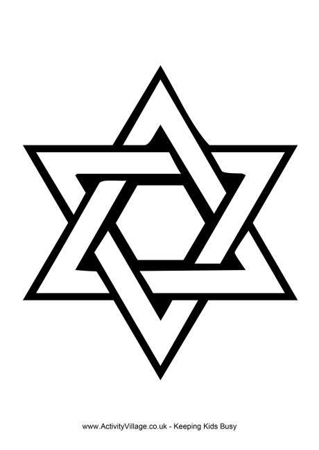 Star Of David Colouring Page Star Of David Tattoo Jewish Star