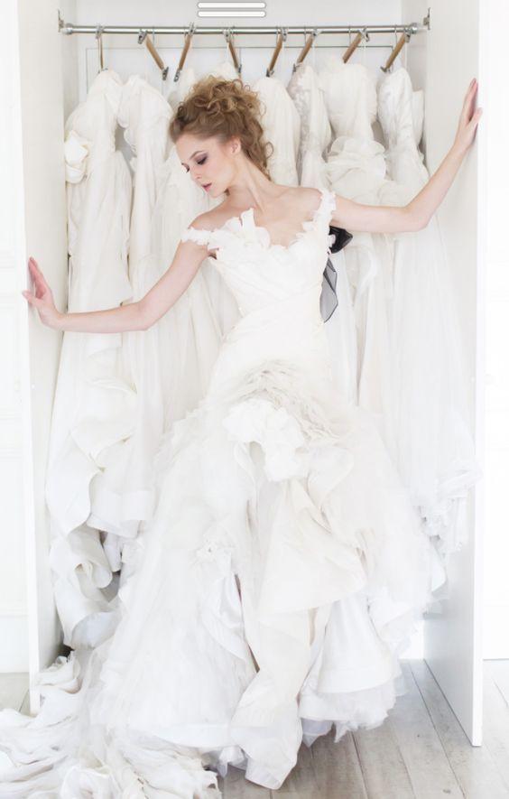 Wedding dress idea; Featured Dress: Vivian Luk Atelier