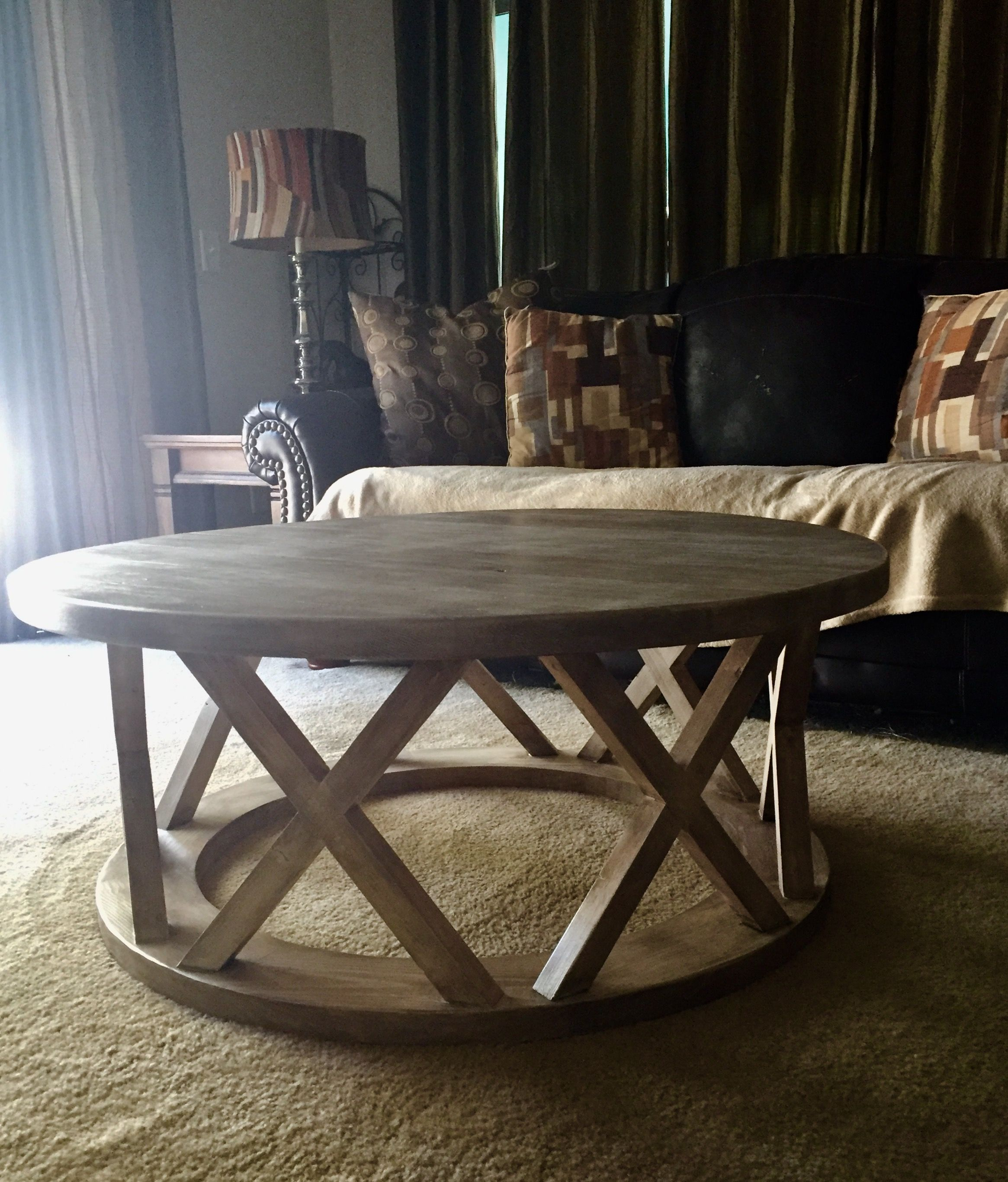 R S Custom Design 42 Round Coffee Table Coffee Table Round