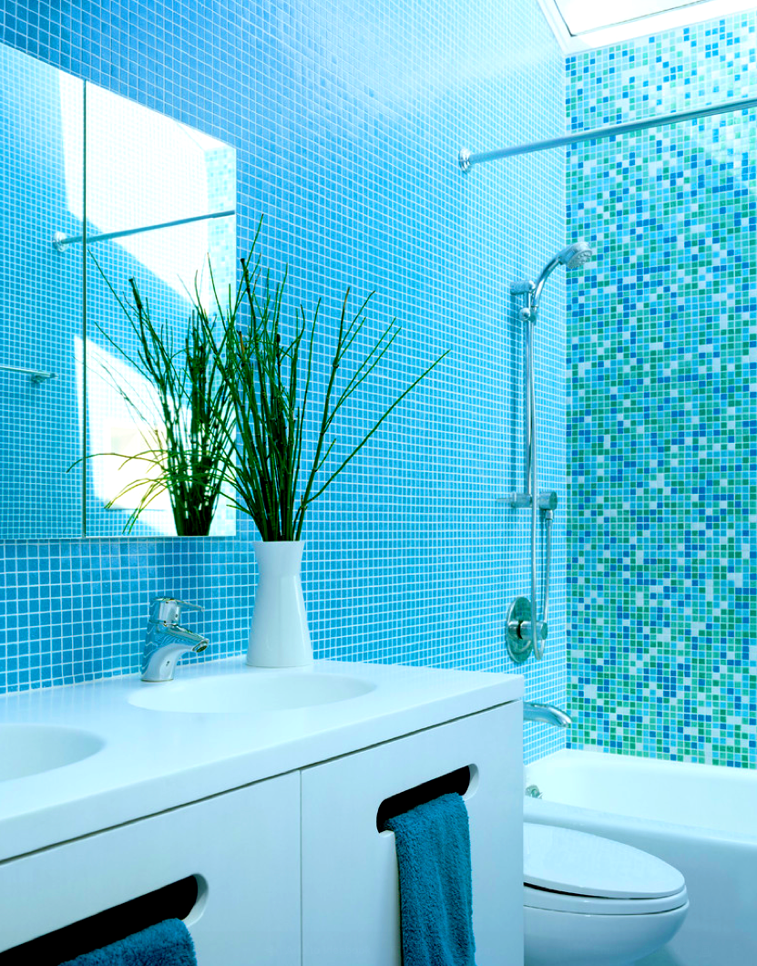 Accessories Attractive Color Mosaic Tile Bathrooms And Blue Turquoise Bathroom Paint Ideas Afaeeccfefaa P Modern