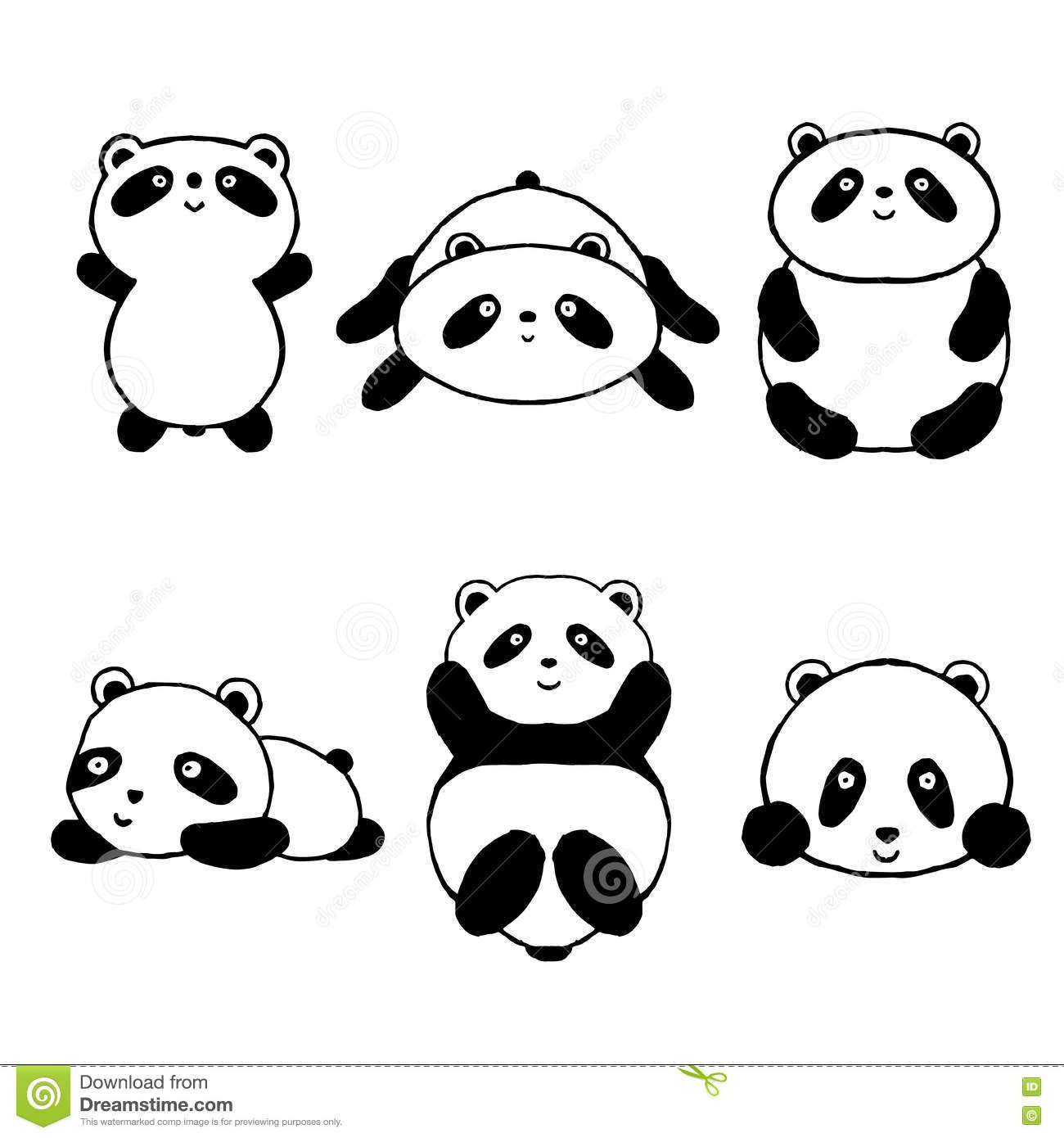 1 Set Kawaii Cartoon Panda Happy Birthday Decoration Set for Kids Nursery Decor