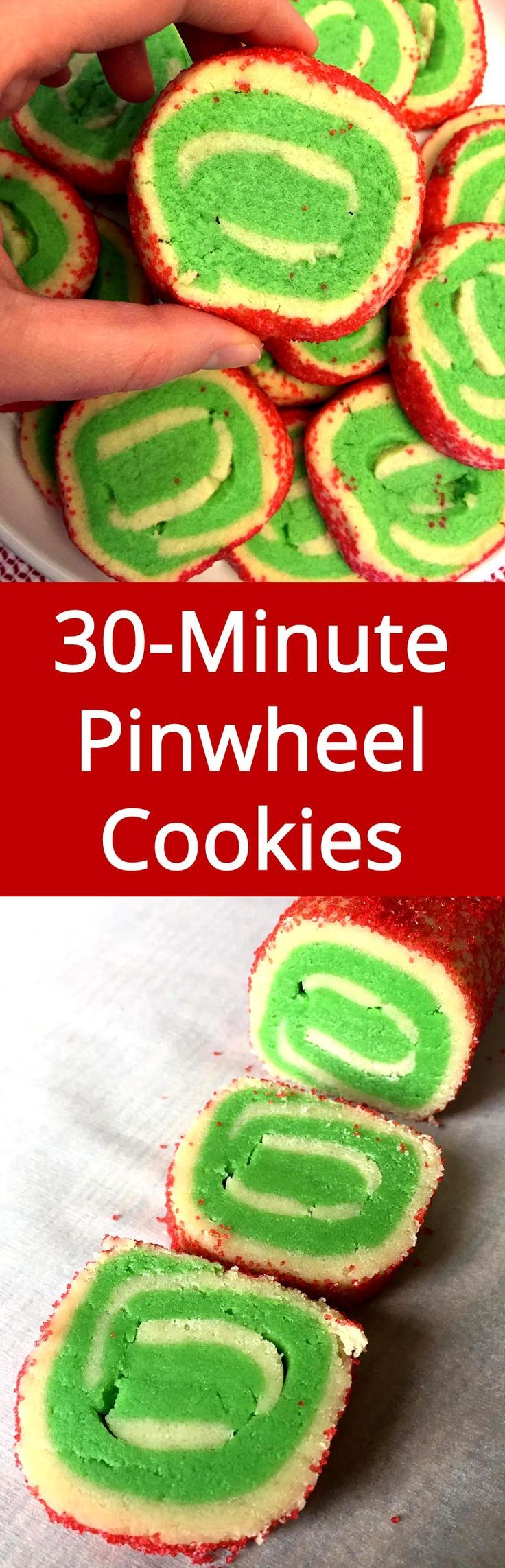 No need to chill the dough! I'm trying this ASAP! Love pinwheel cookies!| MelanieCooks.com