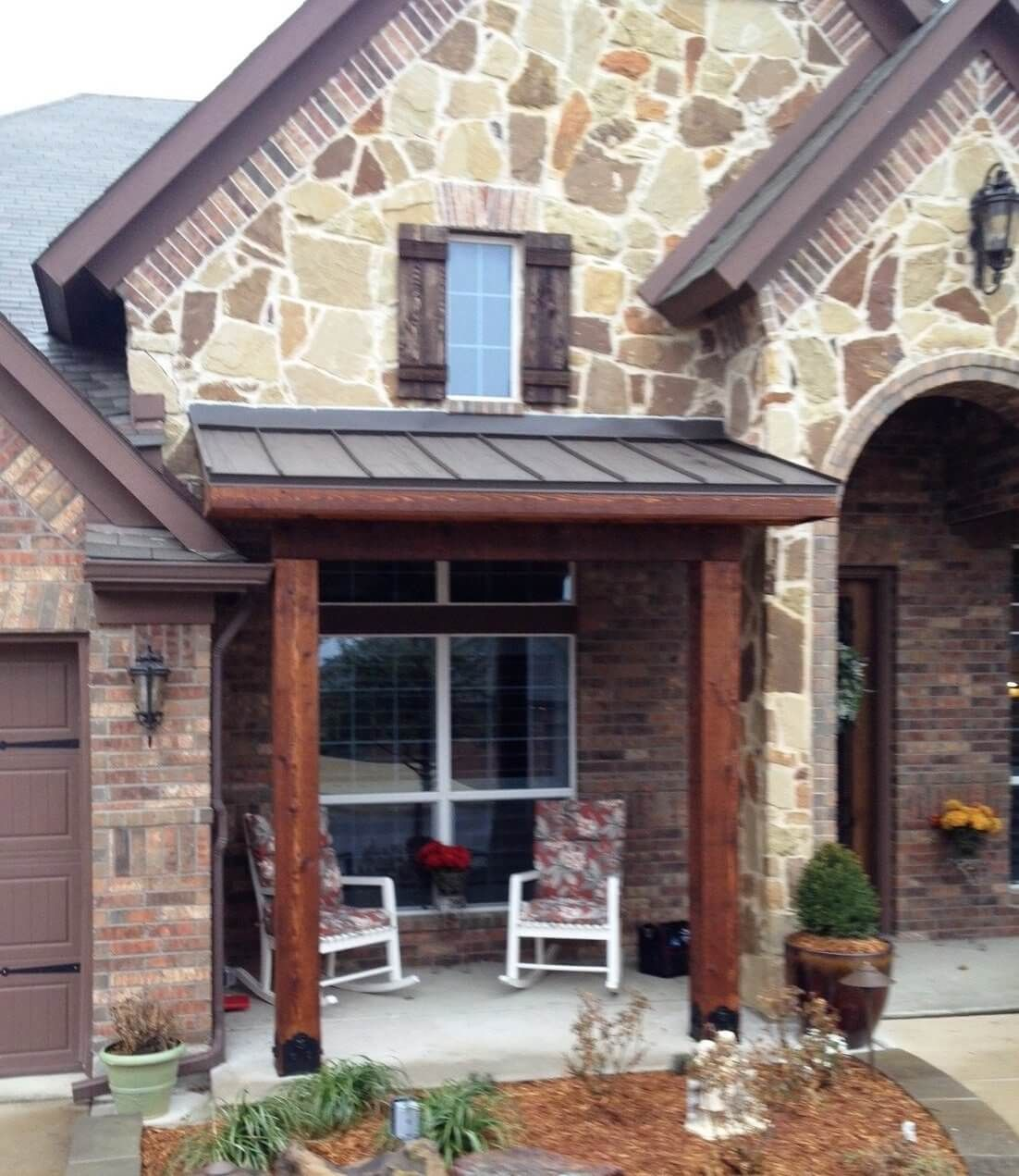 Picture 7: Small extended patio cover with metal roof ... on Extended Covered Patio Ideas id=68648