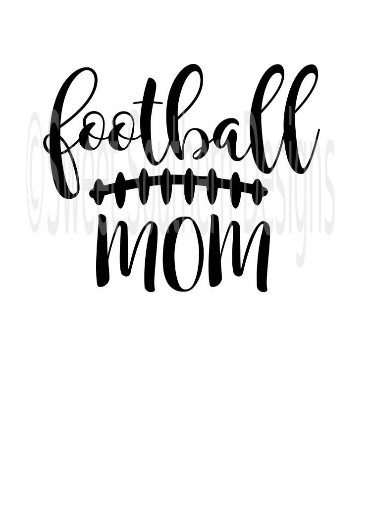 Football Mom Laces Fall Svg Pdf Dxf Instant Download