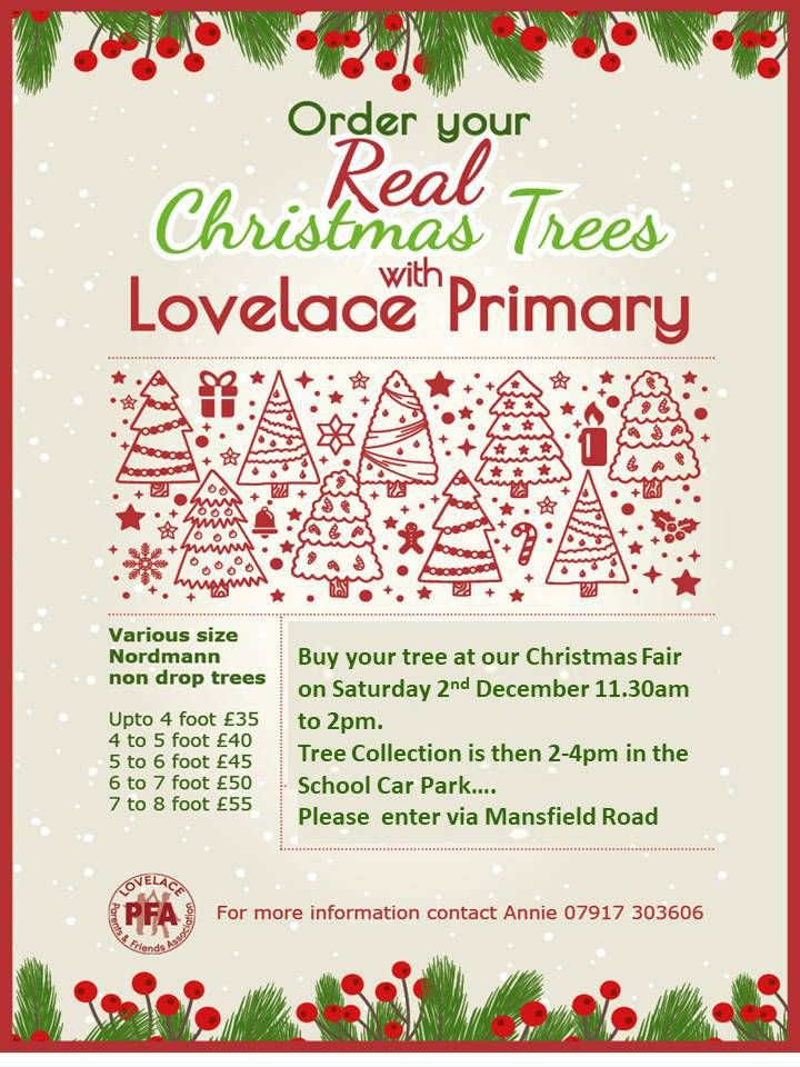 Get your REAL Christmas trees at Lovelace Primary School ...