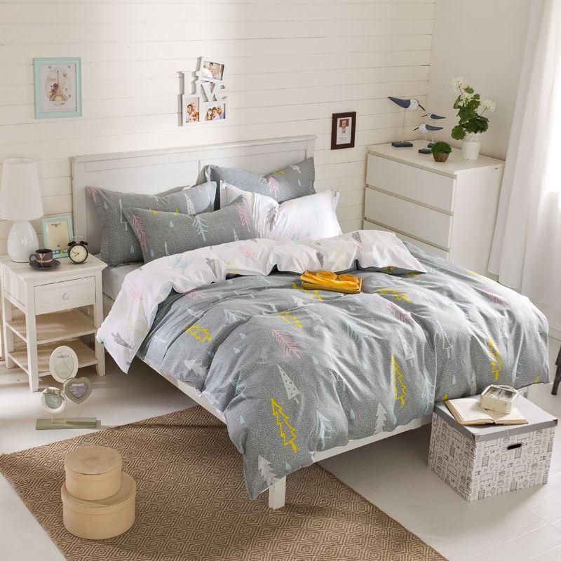 Beautiful nouveau coton ensemble de literie pcs pour queen romantique arbres de couette ensemble - Housse de couette style romantique ...