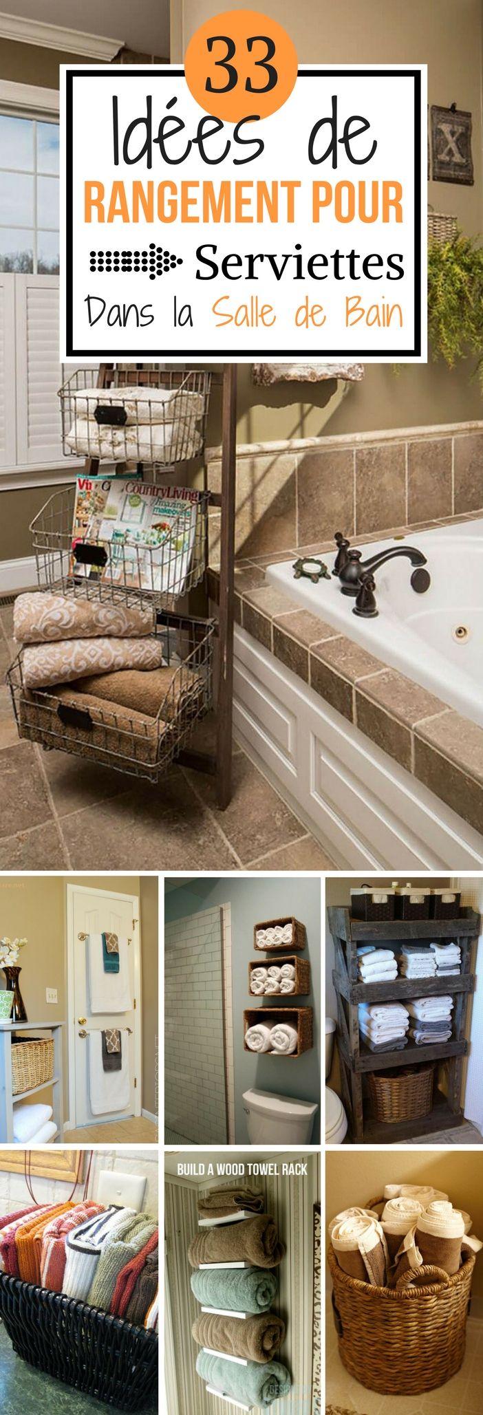 Astuce Rangement Serviette Salle De Bain ~ 33 id es de rangement pour serviettes dans la salle de bain le