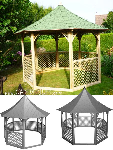pergola bois et tonnelle bois prix cass tonnelle de jardin bois octogonale pavillon kic35. Black Bedroom Furniture Sets. Home Design Ideas
