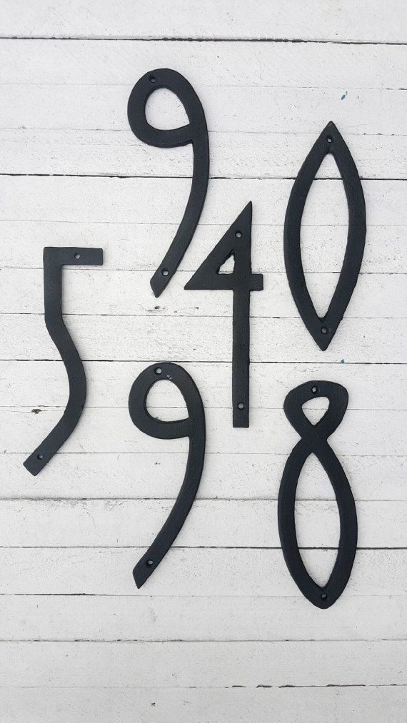 Modern House Numbers Address Numbers Cast Iron Numbers Address