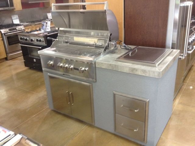 Coyote Built In Grill With Drop In Cooler Access Doors And Utility Drawers Outdoor Kitchen Design Kitchen Design Built In Grill