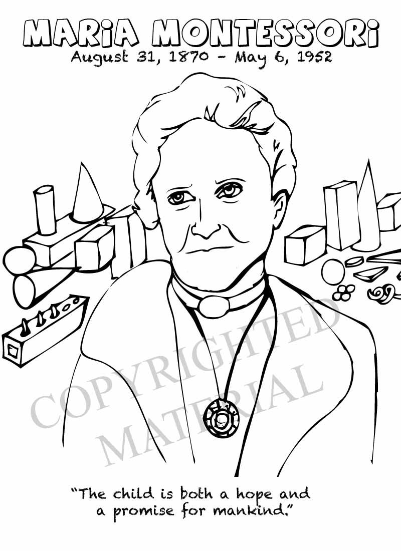 Image result for maria montessori colouring pages Maria
