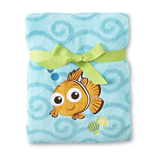 Disney Baby Boy Finding  Nemo Applique  Plush  Baby Blanket