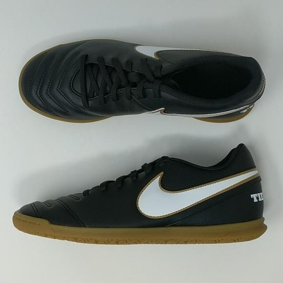 d40de2f003570 Nike Tiempo Rio III IC 819234 010 Black  White Men s Indoor Soccer Sho –  LoneSole