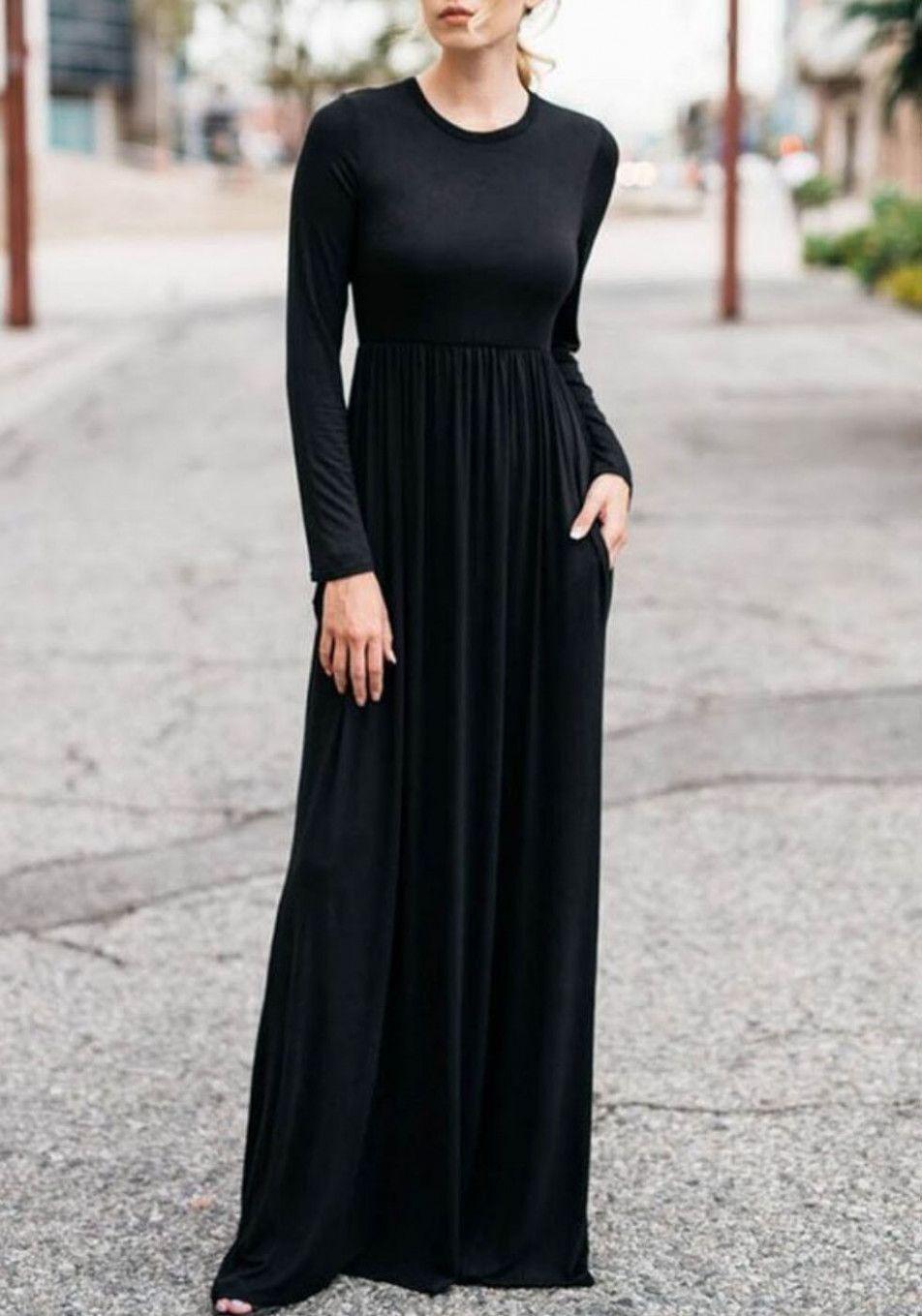 10 langes schwarzes kleid in 2020 | abendkleid, schöne lange