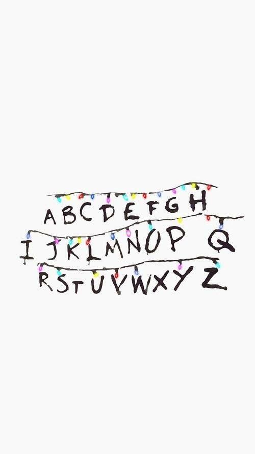 stranger things alpahabet abc lights letters
