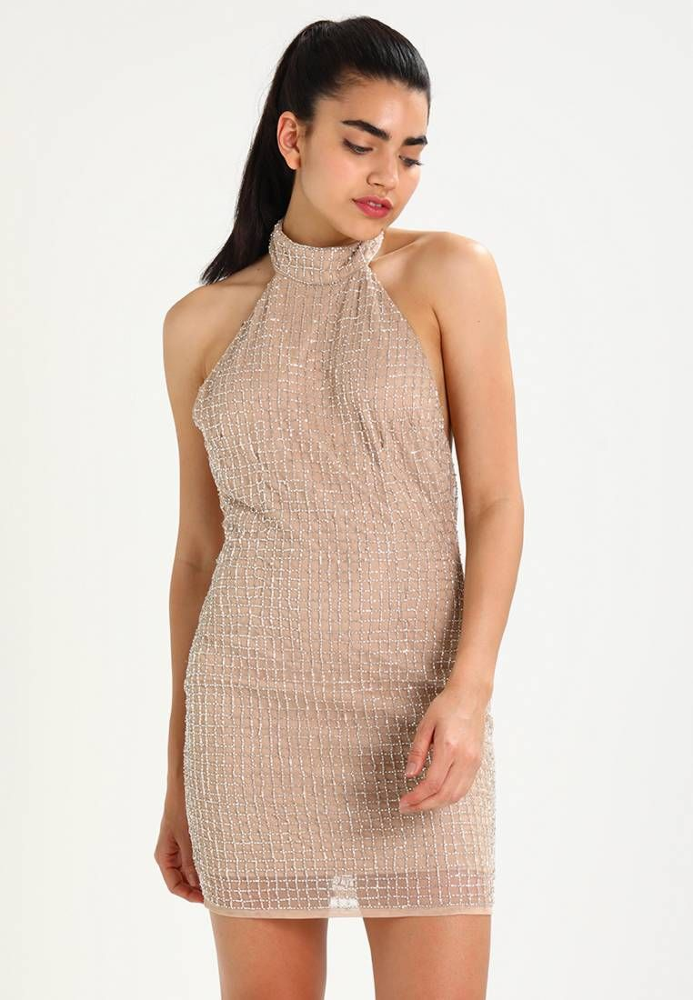 PEACE LOVE HALTERNECK SMALL GRID EMBELLISHED BODYCON - Cocktailkleid ...