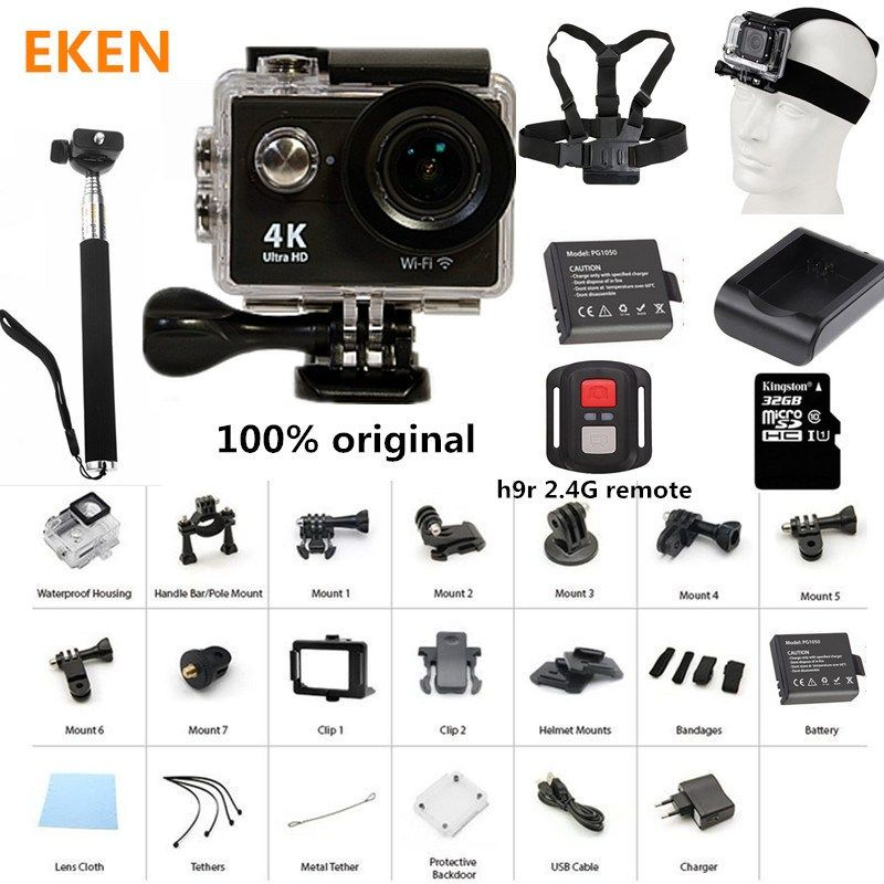 Action Waterproof Camera 100 Original Eken H9/H9R Ultra