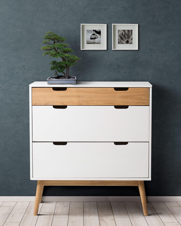Commode scandinave 3 tiroirs MAELA Bois massif | home decor ...