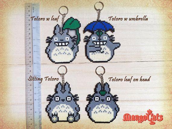 Totoro hama bead sprites Totoro nekobasu cat bus by MangoCats