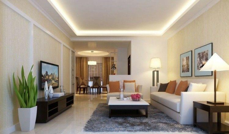salón con iluminación led