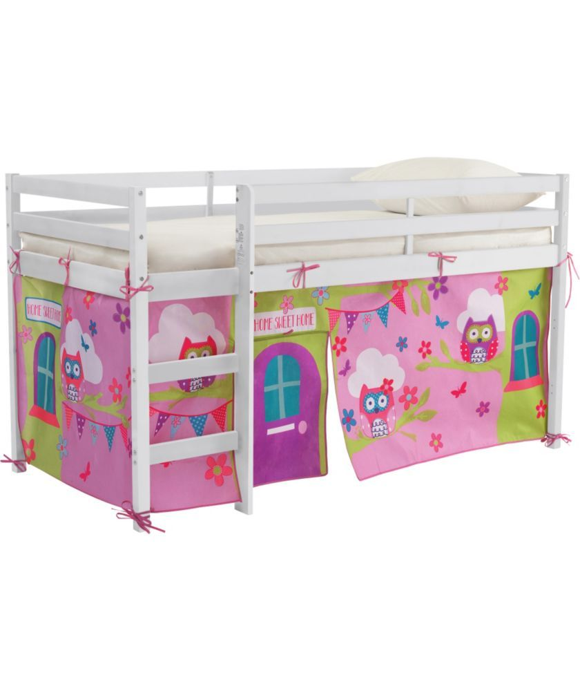 Chad Valley Lester White Shorty Mid Sleeper Bed Owl Tent At Argos Co