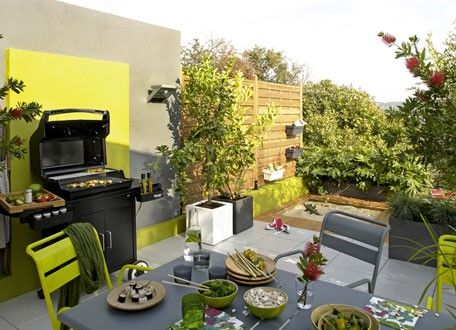 Cuisine d\u0027été extérieure aménagée sur terrasse - Cuisine D Ete Exterieure