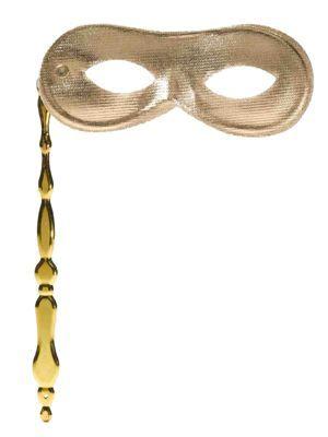 Gold Eye Mask on Fancy Stick
