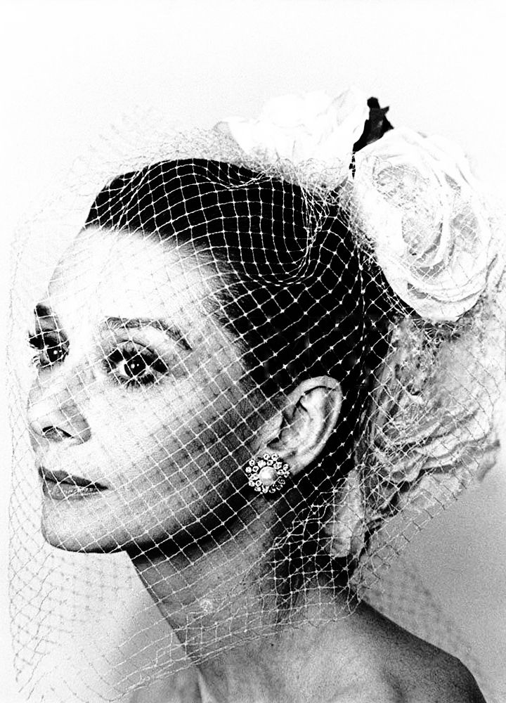 Audrey Hepburn photographed by Sergio Strizzi for the film Bloodline, Paris, March 1979.
