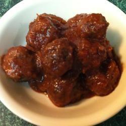 Cranberry Meatballs Allrecipes.com. (Vegetarian, not vegan)