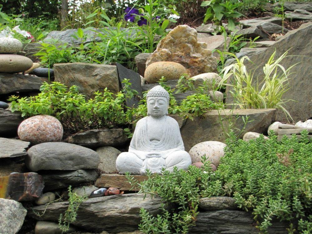 Feng Shui Garten mit Buddha-Figur | Jamal Gardens | Pinterest | Gardens