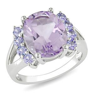 Amour Oval Cut Amethyst Statement Ring