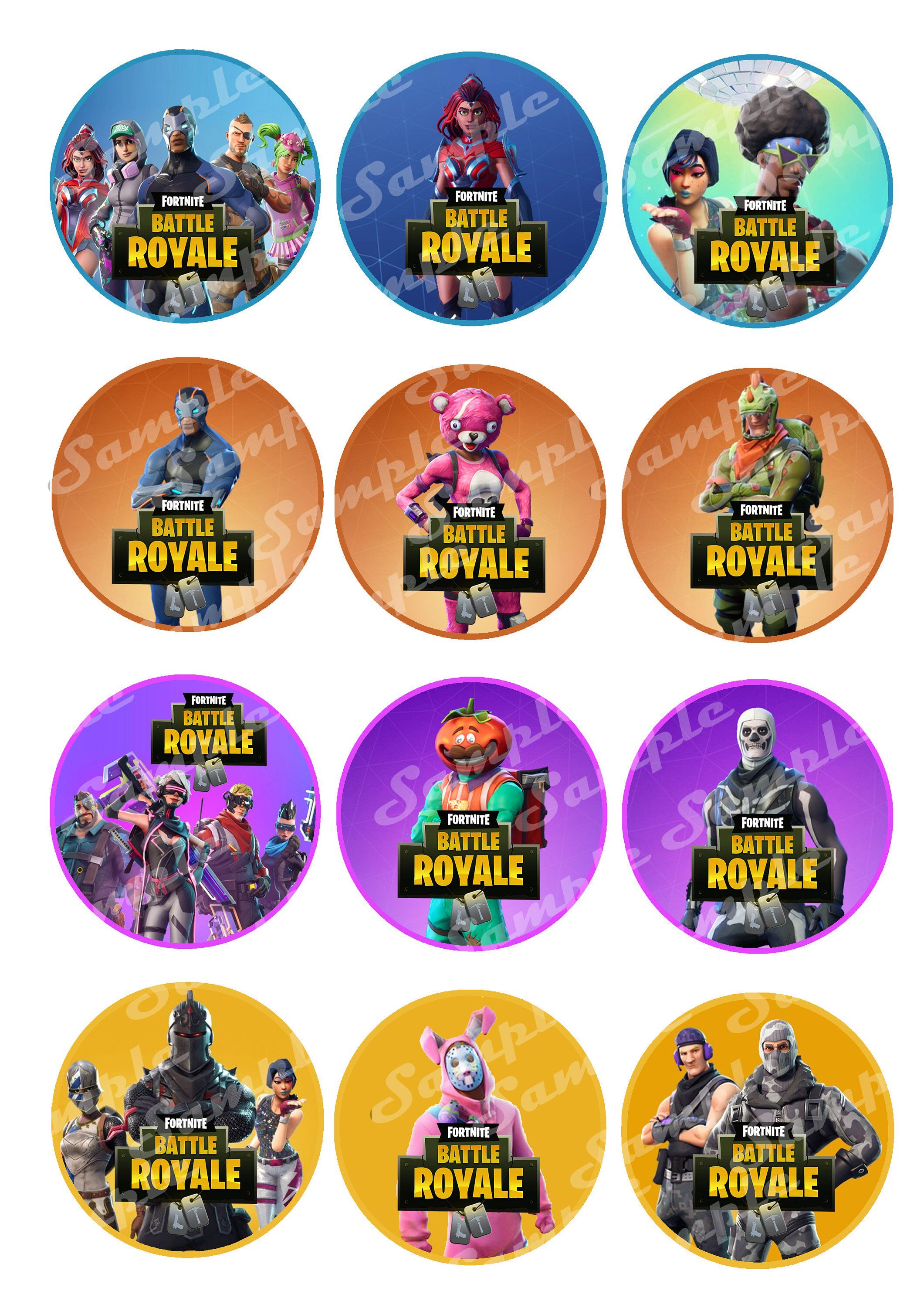 Excited to share the latest addition to my #etsy shop: Fortnite HD Printable Cupcake Toppers #birthday #fortnite #cupcake #toppers #season4 #fort #nite #game #battleroyal #battle