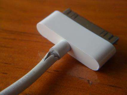 Fix your iPhone charger; I've got 2 right now like this.