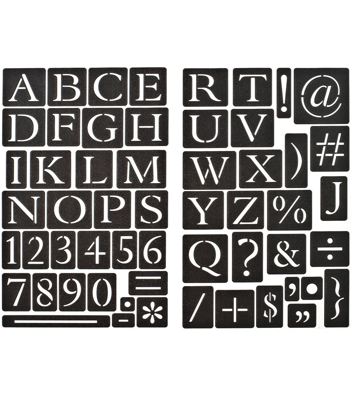 Chalk Stencls Alpha And Number