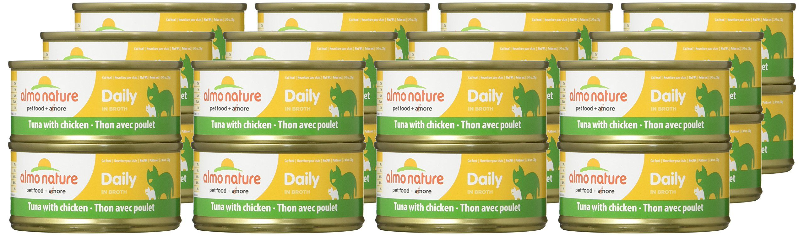Almo Nature 1602 Daily Cat Tuna With Chicken Pet Food 24 X 70 G 2 47 Oz Click Image To Review Even More Info Canned Cat Food Natural Cat Food Chicken Protein