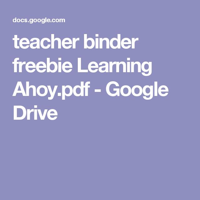 Teacher Binder Freebie Learning Ahoy.pdf