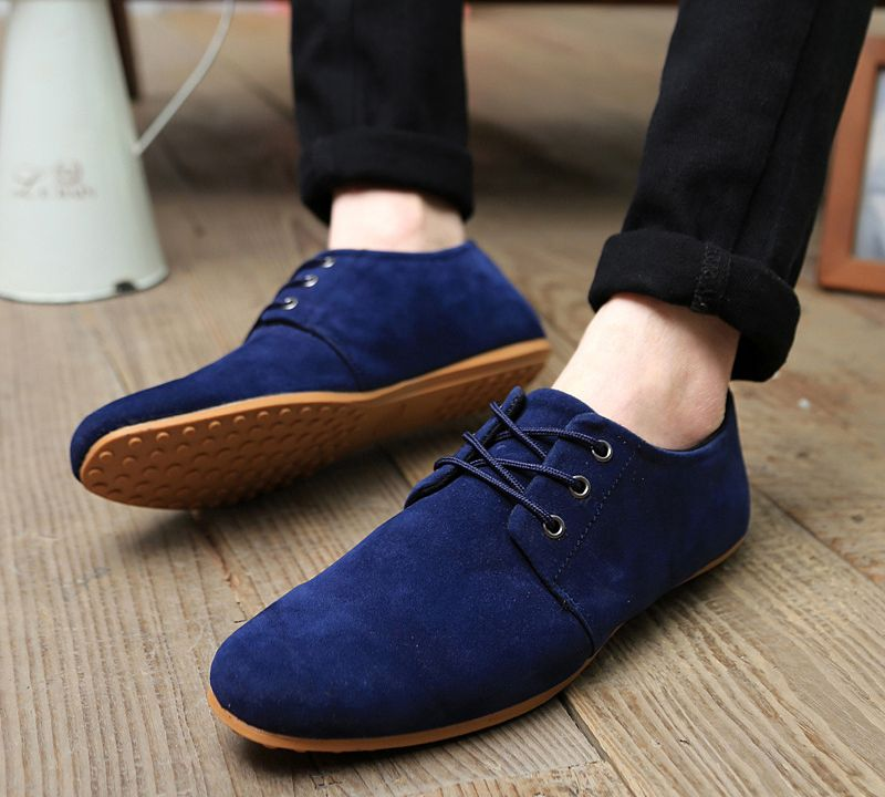New Design Slip On Breathable Men Causal Shoes Summer Fashion Cow Suede Leather Men Shoes Flats Loafers Shoes Men Footwear