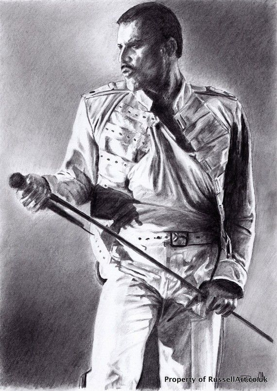 Freddie Mercury - Queen A4 A3 or A2 Size Limited Edition