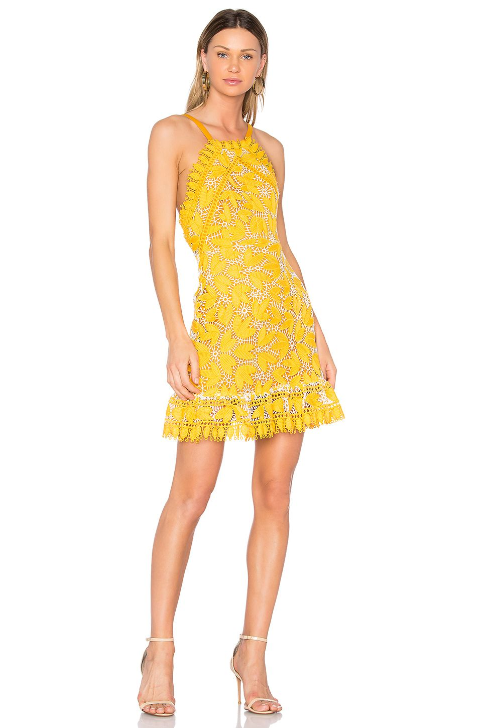 aijek Marianna Halter Dress in Yellow | Covet | Pinterest