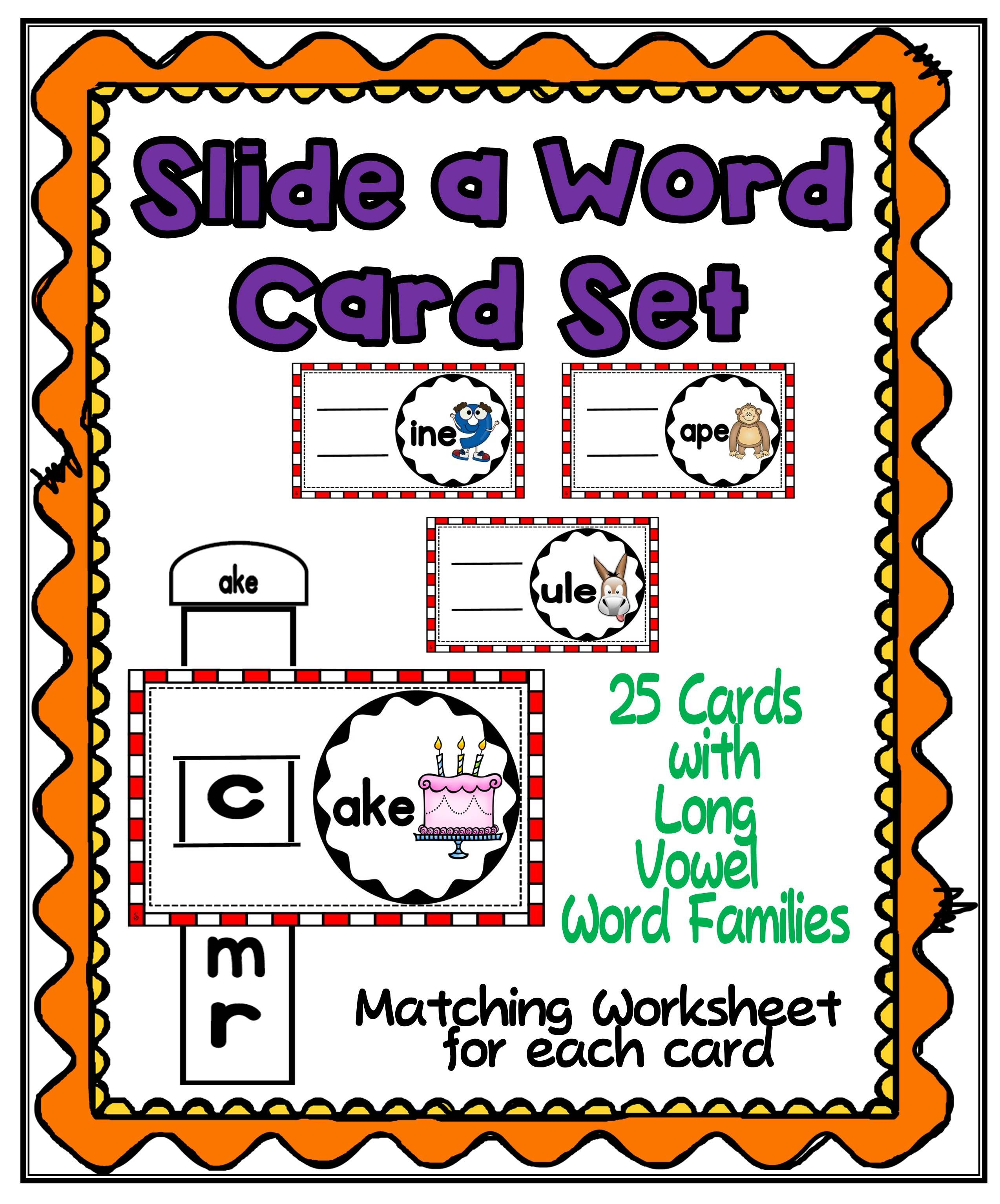 Slide A Word Long Vowels Family Set