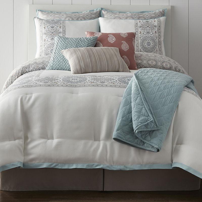 Jcpenney Home Aurelia 10 Pc Reversible Comforter Set Comforter Sets Bed Sizes Clean Bed