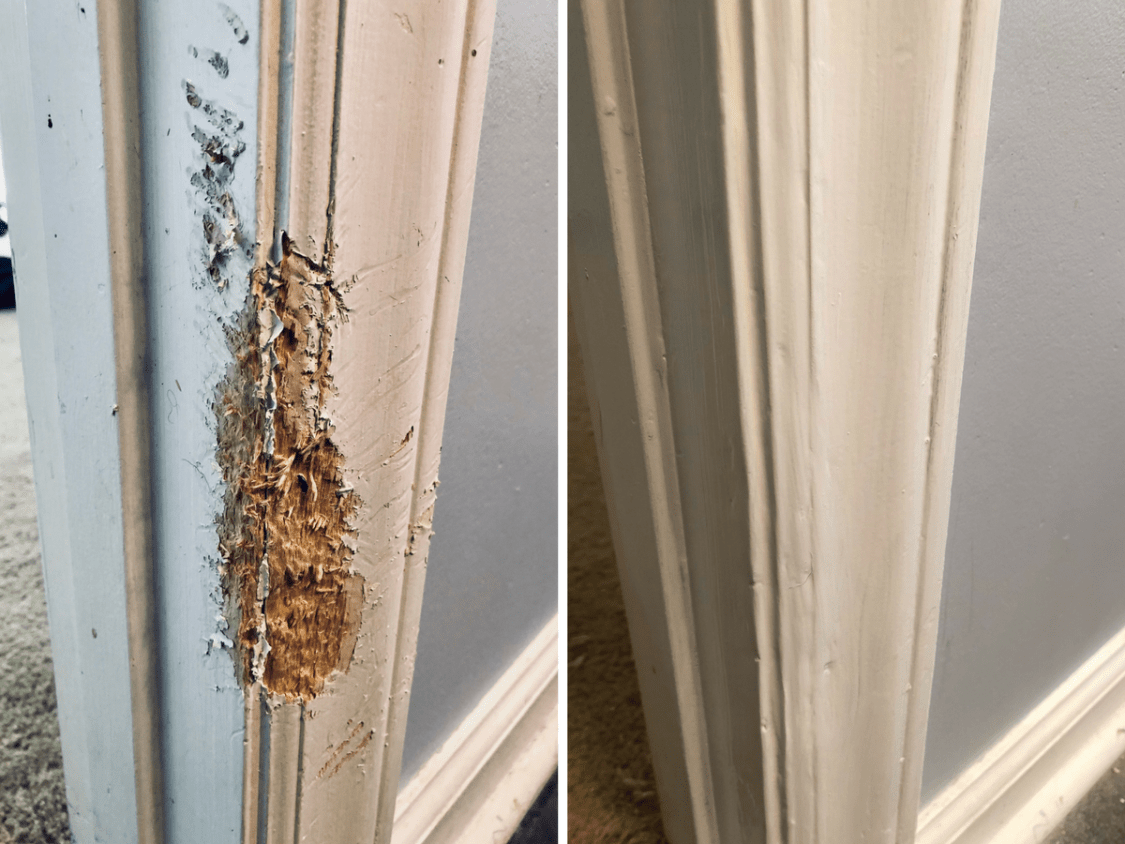 Repair A Damaged Door Frame With Tin Foil Dog Versus