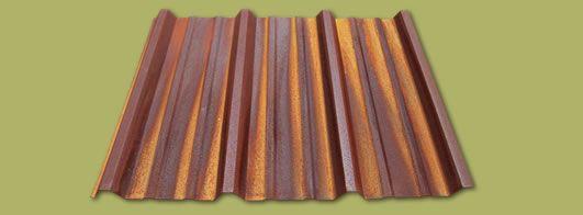 Rusty Metal Panels Siding Roof Exterior Corten A606