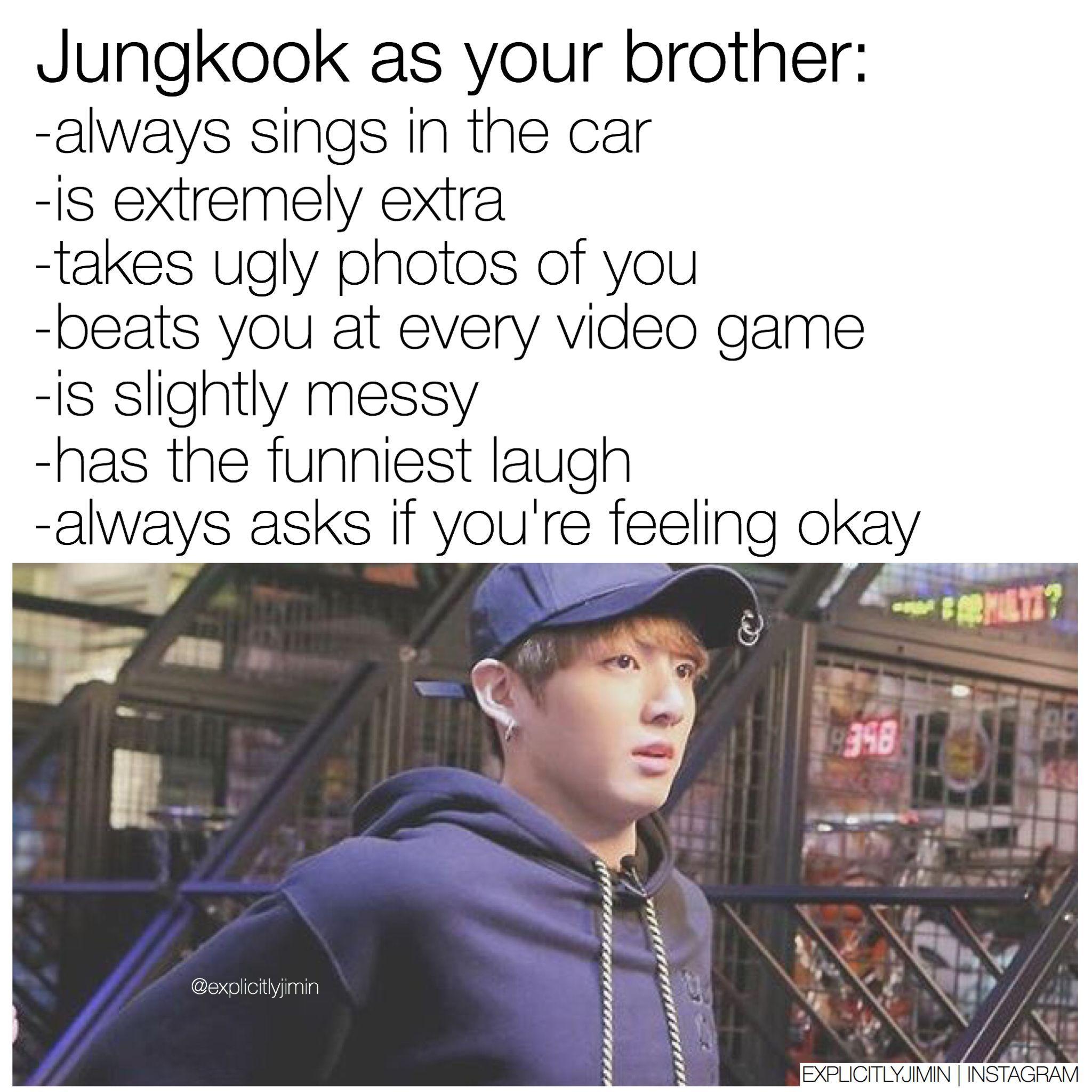 Jungkook bts imagine fanmade brother | kmemes | Pinterest
