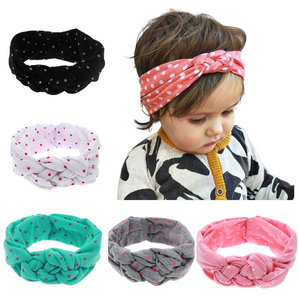 8 PCS Kids Girls Toddler Baby Floral Turban Twist Knot Elastic Headband HairBand