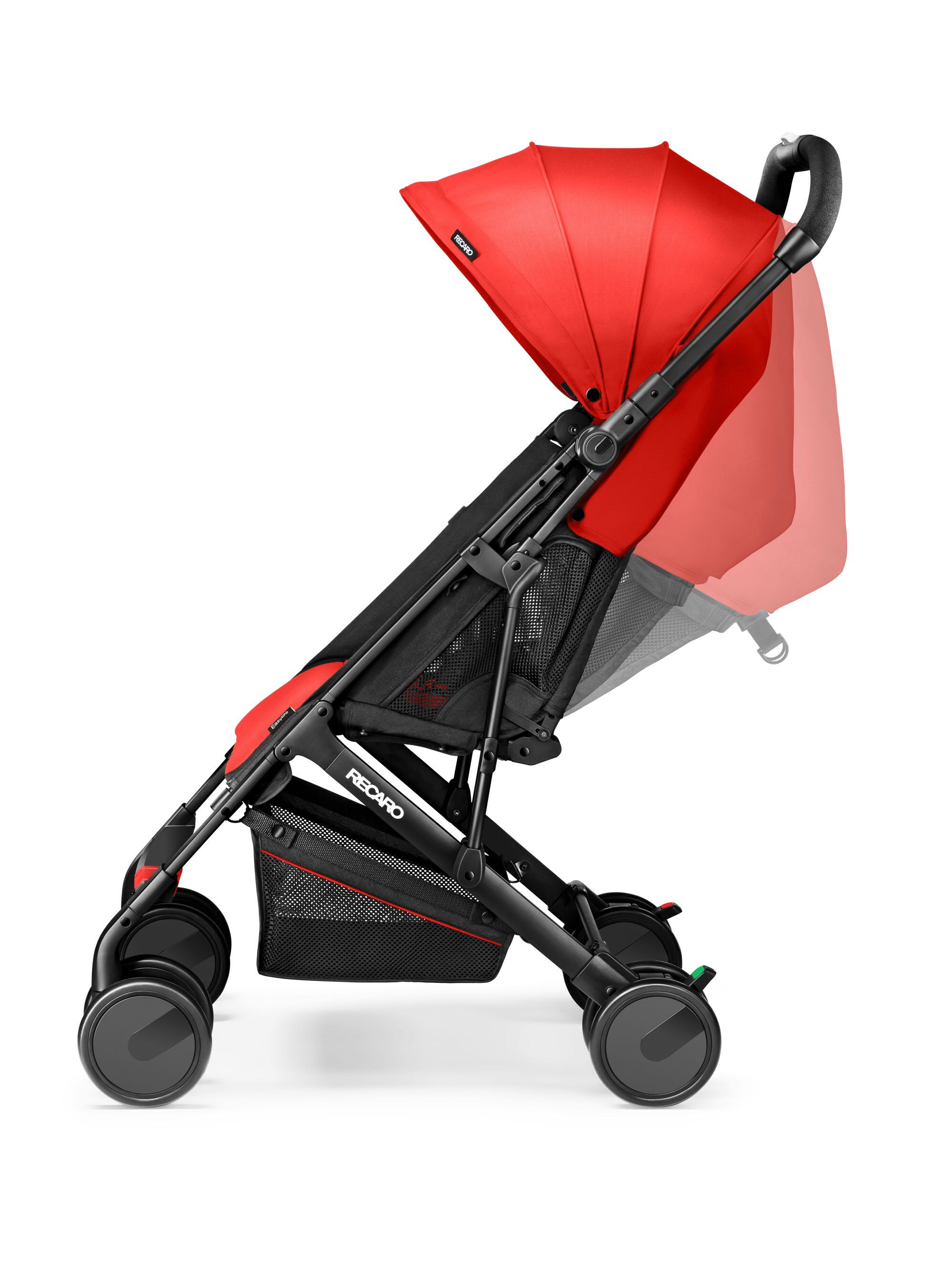 Silla De Paseo Recaro Recaro Easylife Red With Reclining Backrest Stroller Baby