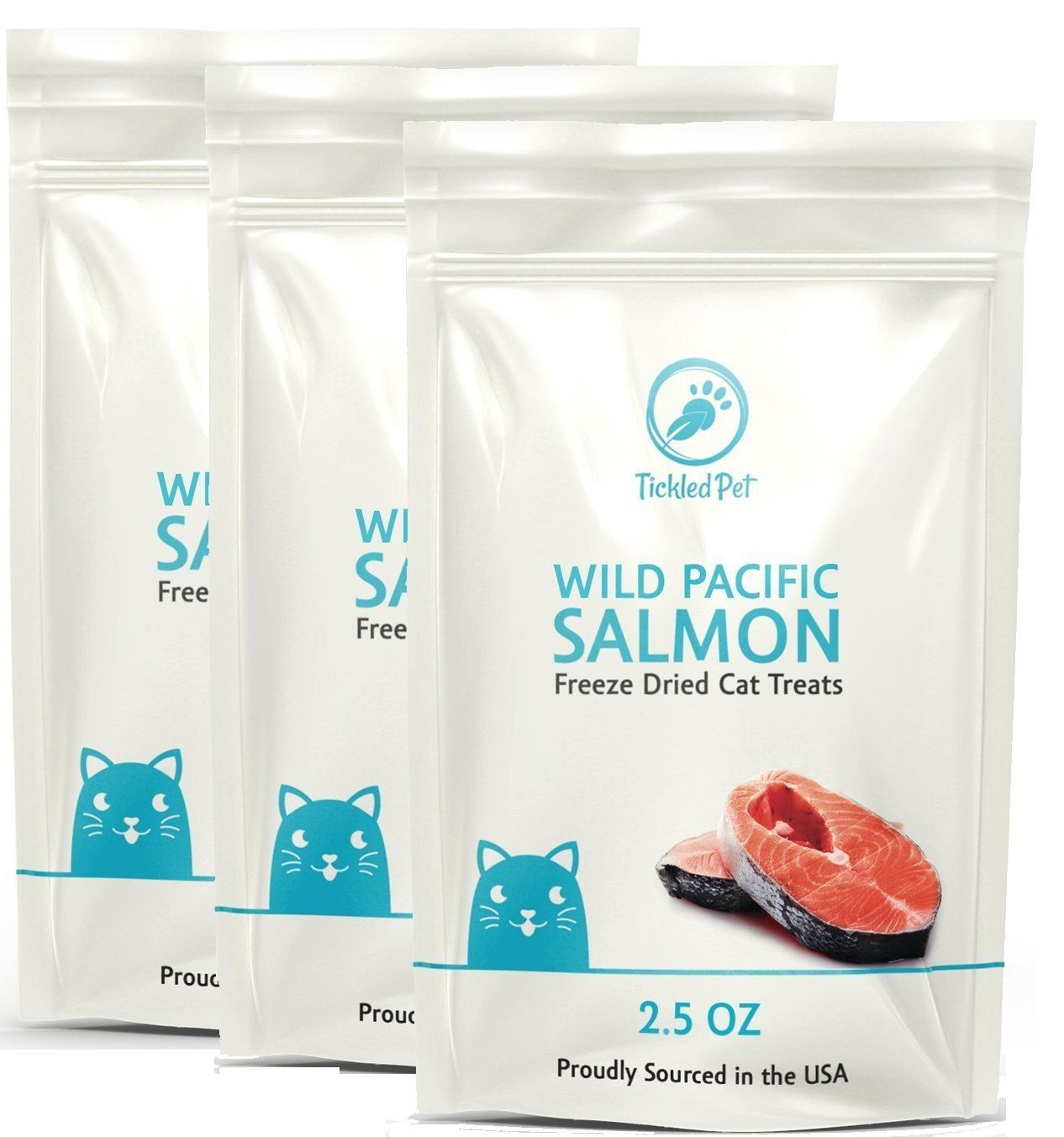 Wild Pacific Freeze Dried Salmon Cat & Dog Treats 2.5oz by TickledPet 2.5oz/3-Pack