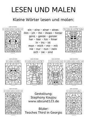 malen nach kleinen w rtchen teil 3 wortschatz daf daz 1 klasse schule deutsche schule. Black Bedroom Furniture Sets. Home Design Ideas