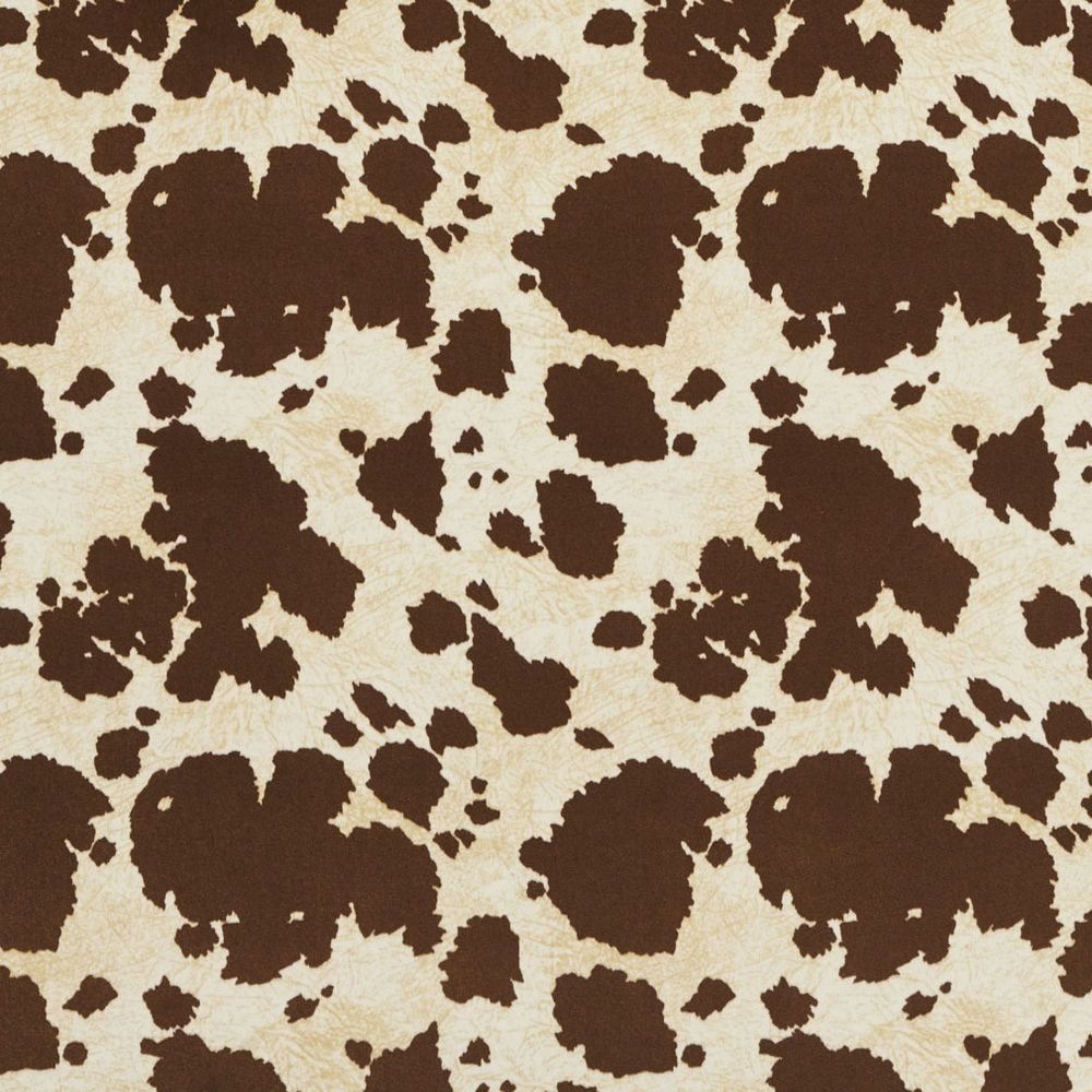 E413 Brown Cow Animal Print Microfiber Upholstery Fabric By The Yard Unbranded